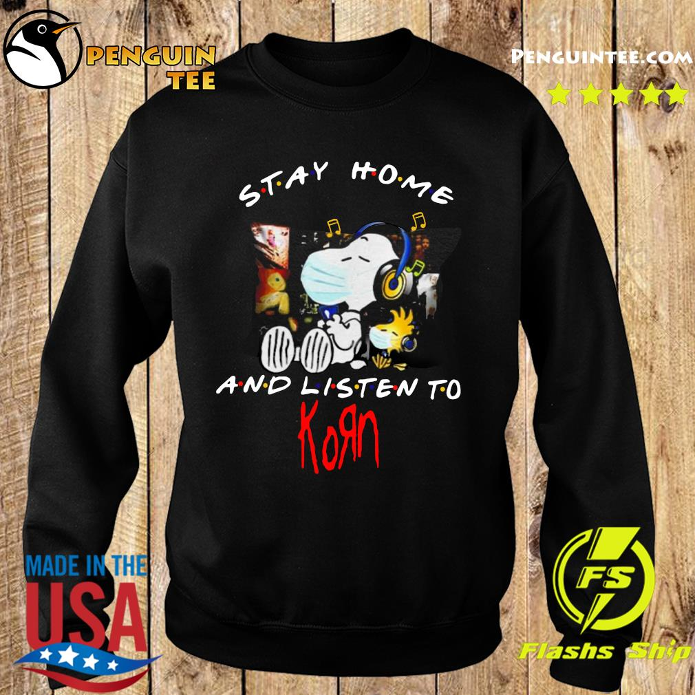 Snoopy And Woodstock Stay Home And Listen To Korn Shirt Sweater