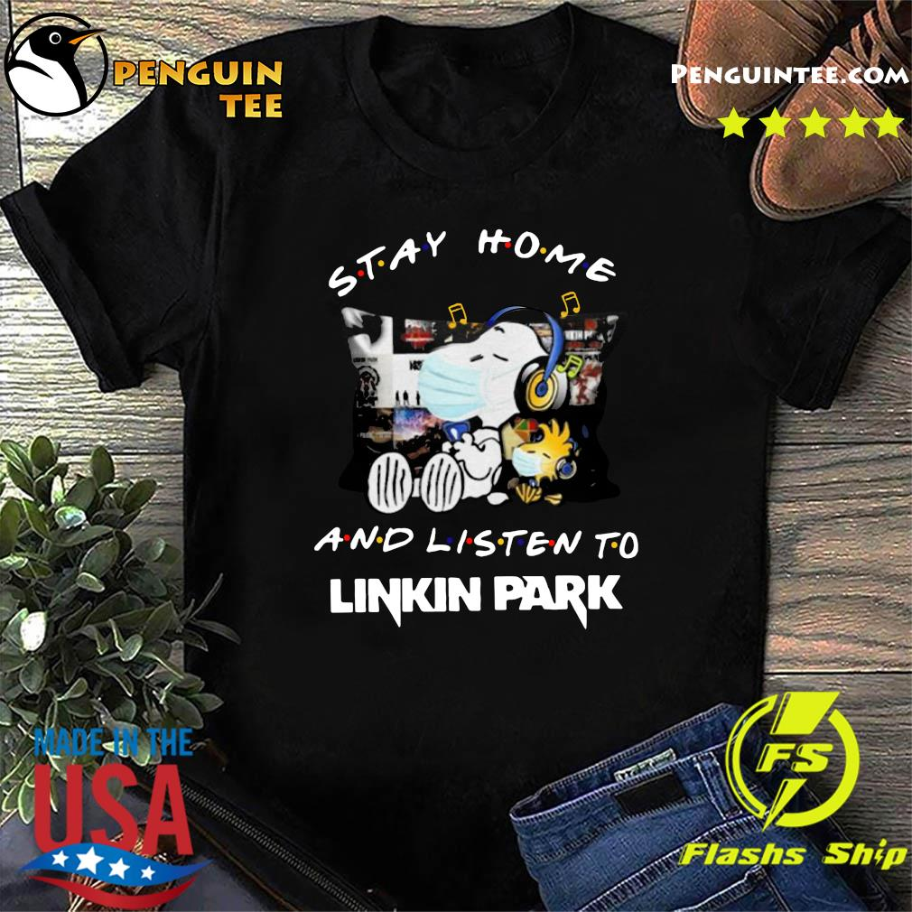 Snoopy And Woodstock Stay Home And Listen To Linkin Park Shirt