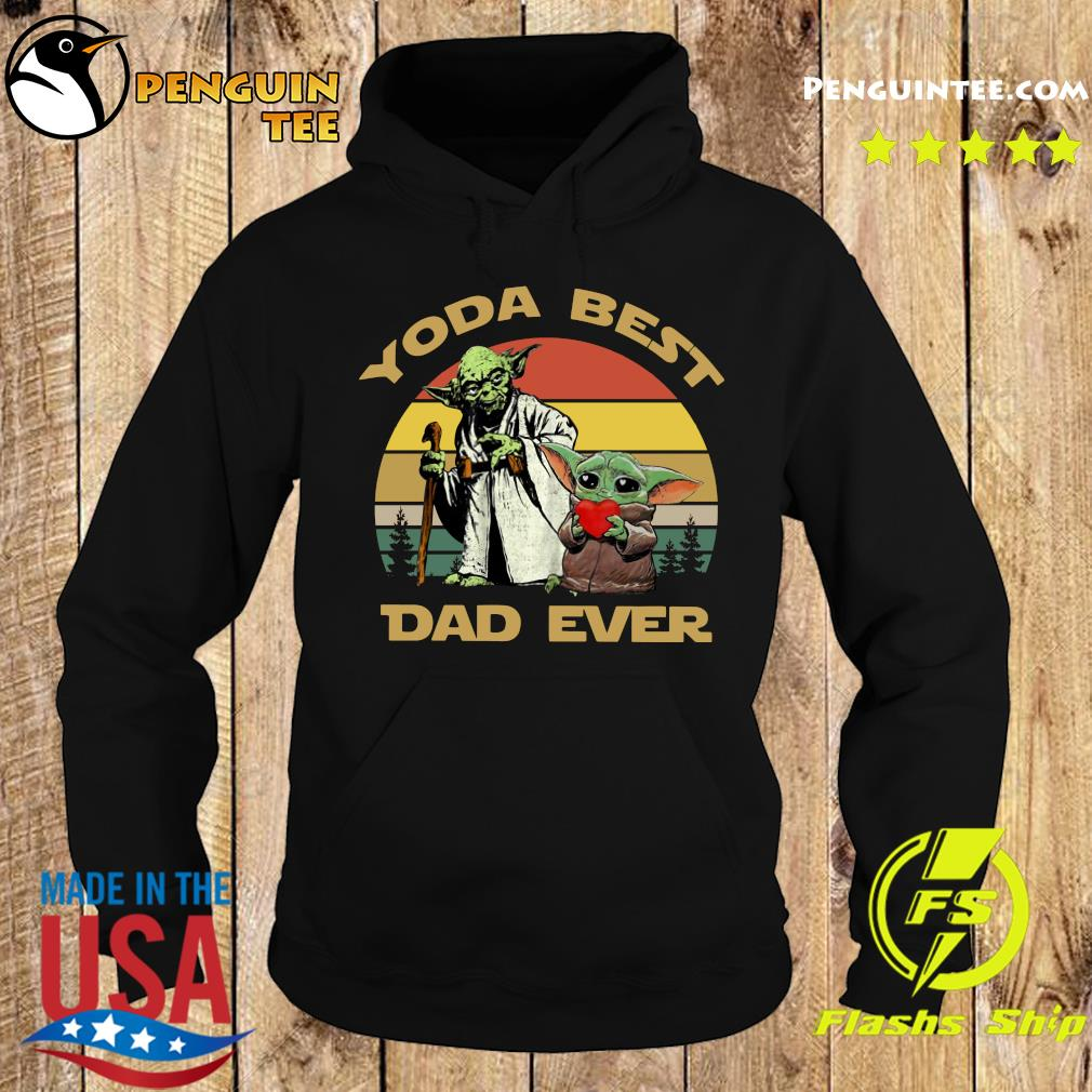 Master Yoda And Baby Yoda Best Dad Ever Vintage Shirt Hoodie