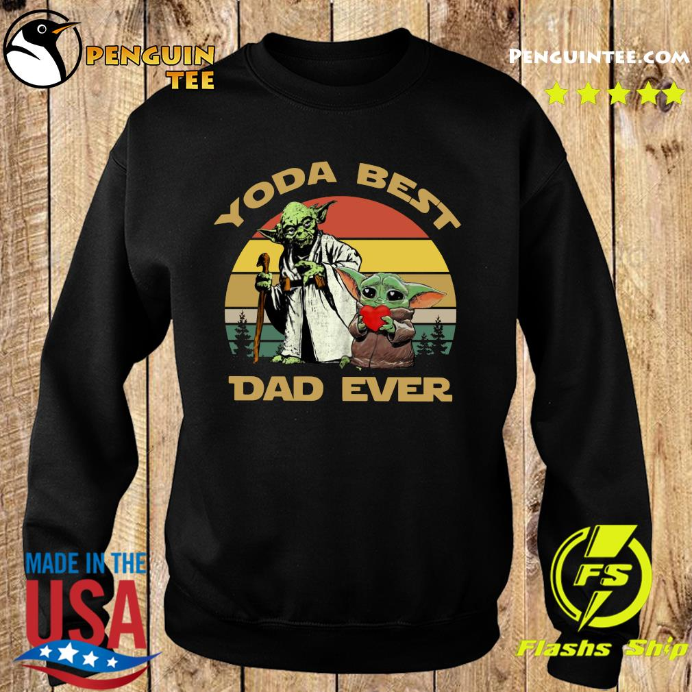 Master Yoda And Baby Yoda Best Dad Ever Vintage Shirt Sweater