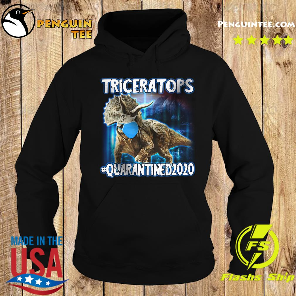 Triceratops Face Mask Quarantined 2020 Shirt Hoodie