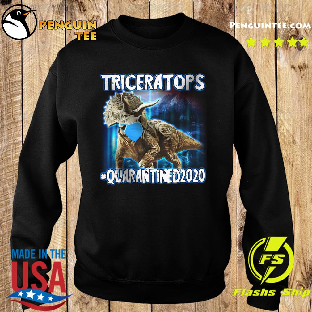 Triceratops Face Mask Quarantined 2020 Shirt Sweater