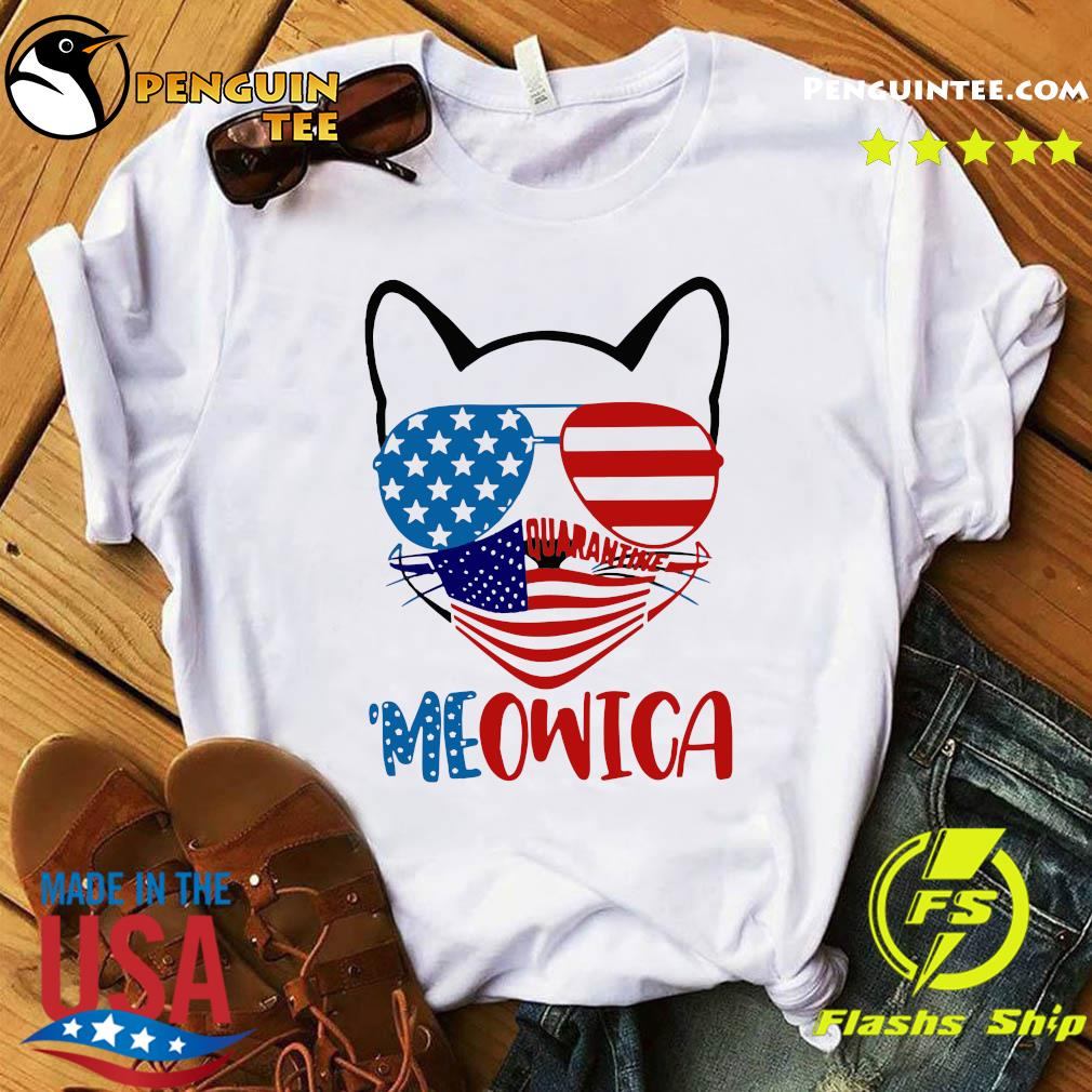 Meowica 4th Of July Merica Quarantine Shirt