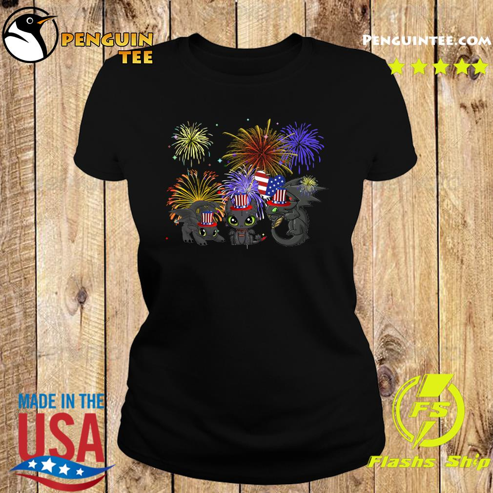 Night Fury American Flag 4th Of July Independence Day Shirt Ladies tee