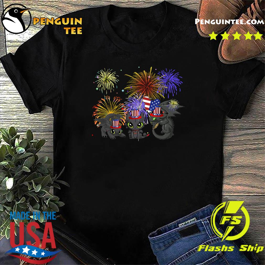 Night Fury American Flag 4th Of July Independence Day Shirt
