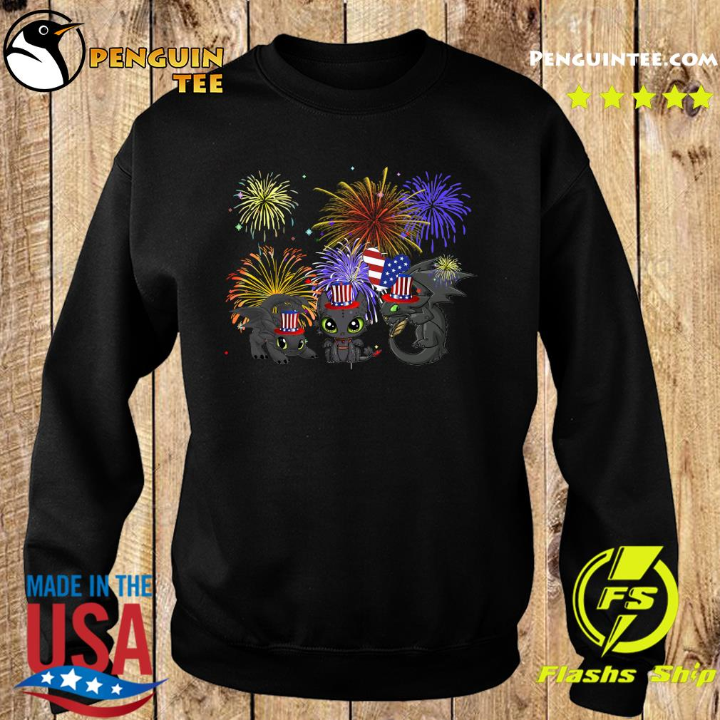Night Fury American Flag 4th Of July Independence Day Shirt Sweater