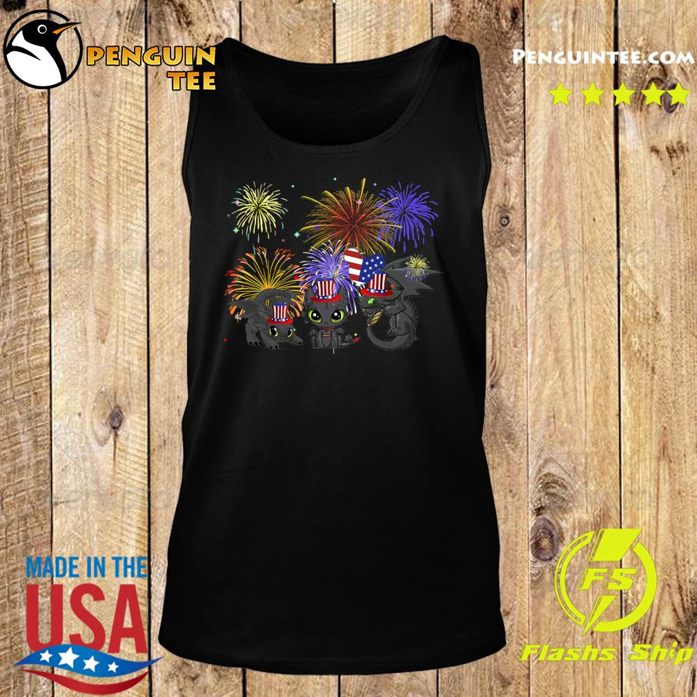 Night Fury American Flag 4th Of July Independence Day Shirt Tank top