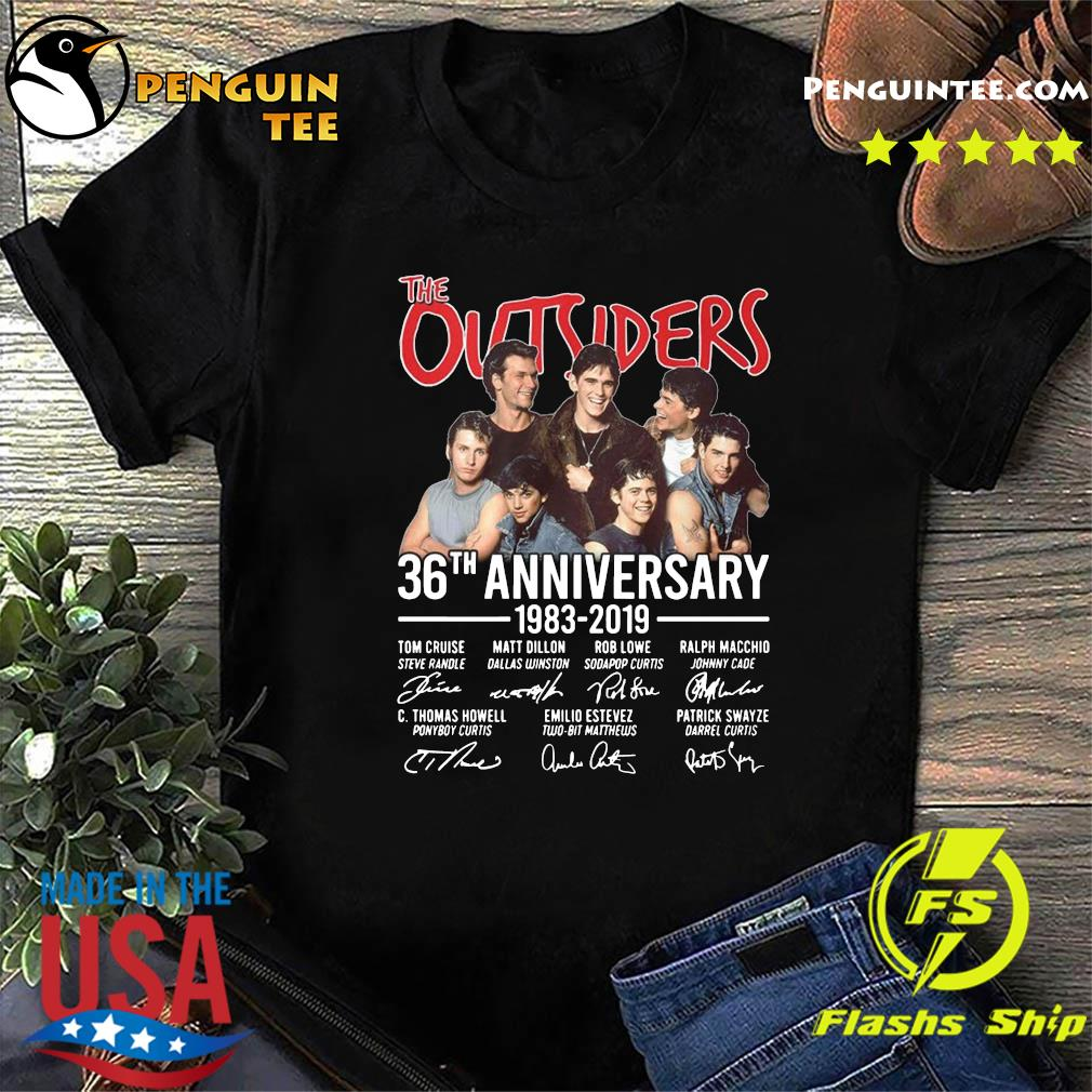 The Outsiders 36th Anniversary 1983 2019 Signatures Shirt